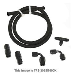 Trick Flow Specialties TFS-306SB600K - Trick Flow® GM LS Engine Steam Line Hoses