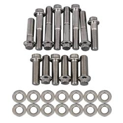 Trick Flow Specialties TFS-534INTBK - Trick Flow® Stainless Steel Intake Manifold Bolt Kits