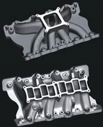 Trick Flow Specialties® Track Heat® Intake Manifold for Ford 351C and Clevor